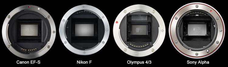 4a19e07089 Monturas de reflex digitales varios tipos de montura para cámaras ...